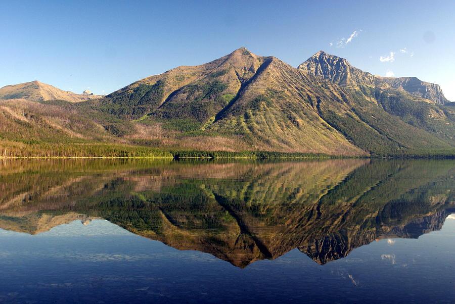 Glacier Photograph - Reflections On Lake Mcdonald by Marty Koch