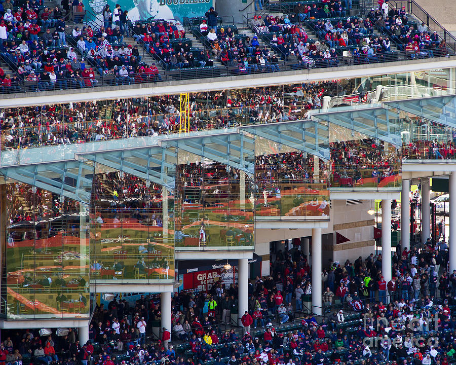 Cleveland Photograph - Reflections On Opening Day by Jeremy Fear