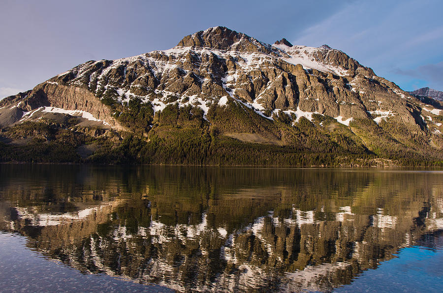 Glacier National Park Photograph - Reflections On Red Eagle Mountain by Greg Nyquist