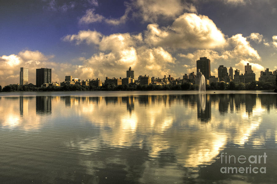Central Photograph - Reflections Over East Side  by Rob Hawkins