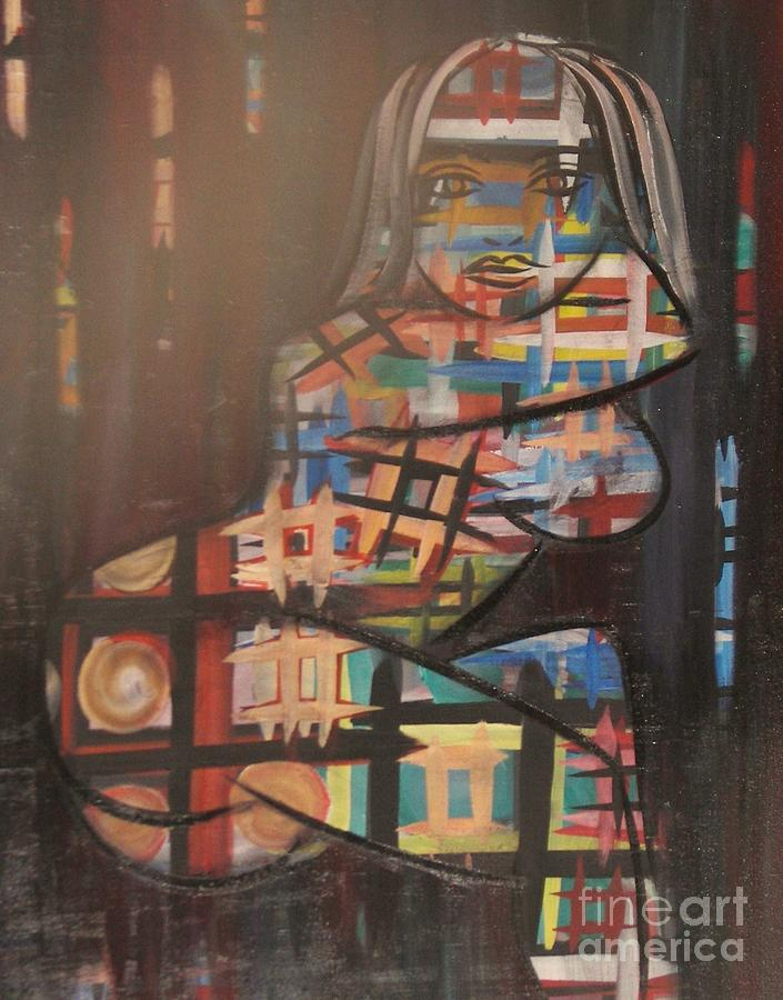 Abstracts Painting - Reflections by Rachel Carmichael