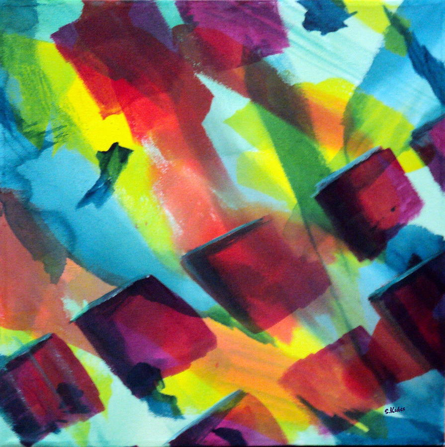 Abstract Painting - Reflections by Susan Kubes