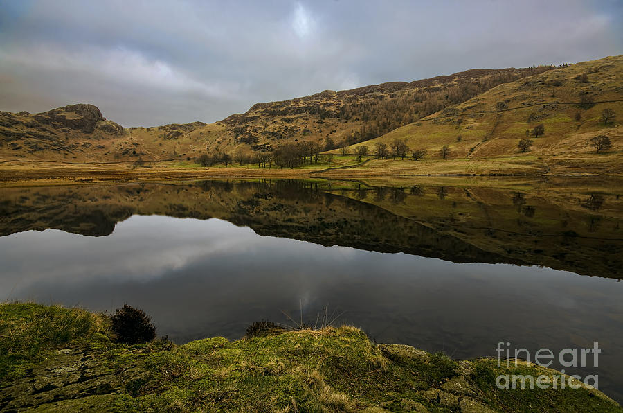 Blea Tarn Landscape Photograph - Reflective Blea Tarn by John D Hare