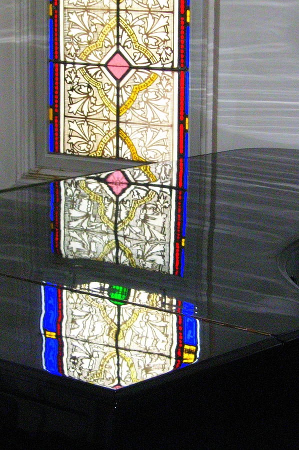 Stain Glass Photograph - Reflective Mood by Bruce Carpenter