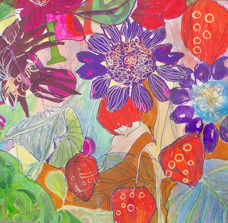 Gardens Mixed Media - Refreshment IIi by Claudia Smaletz
