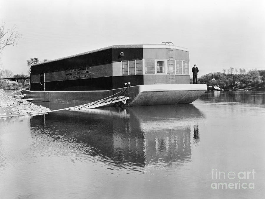 1935 Photograph - Refrigerated Barge, C1935 by Granger