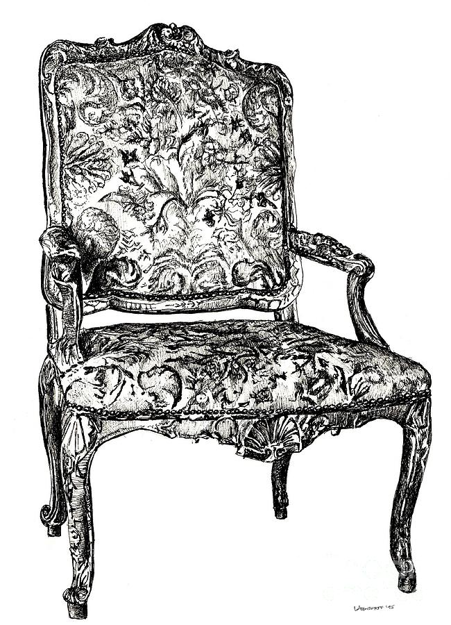 French Drawing - Regency Chair by Adendorff Design  sc 1 st  Pixels & Regency Chair Drawing by Adendorff Design