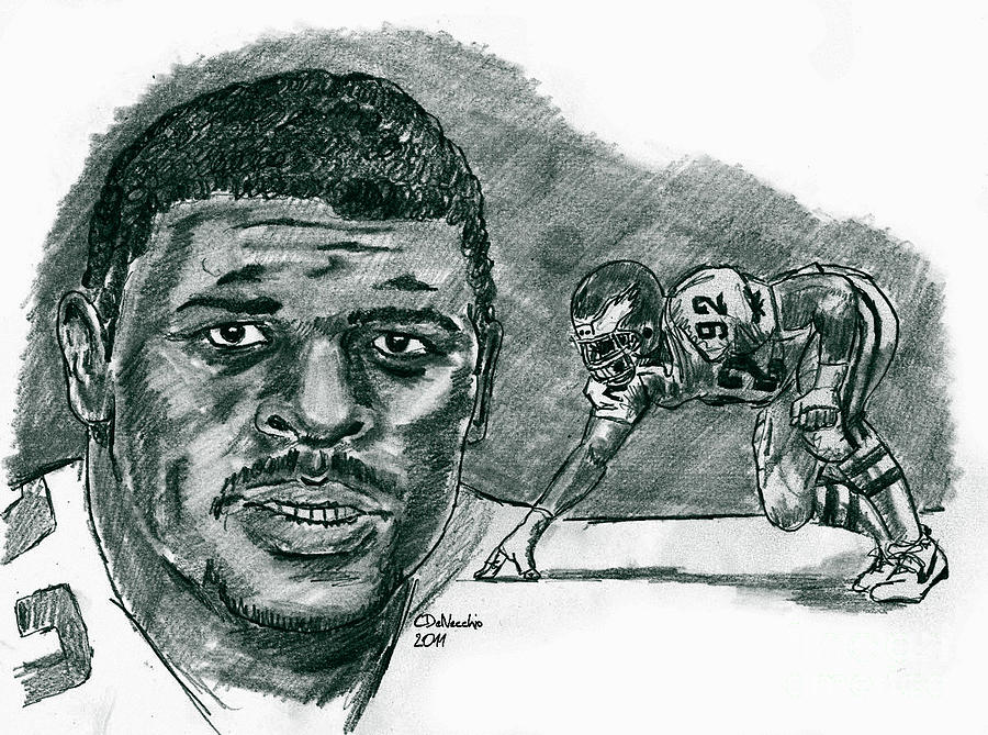 Reggie White Minister Of Defense Drawing by Chris  DelVecchio
