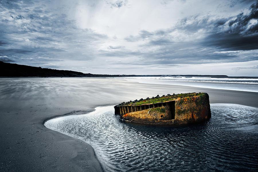 Bay Photograph - Reighton Sands Coast by Svetlana Sewell