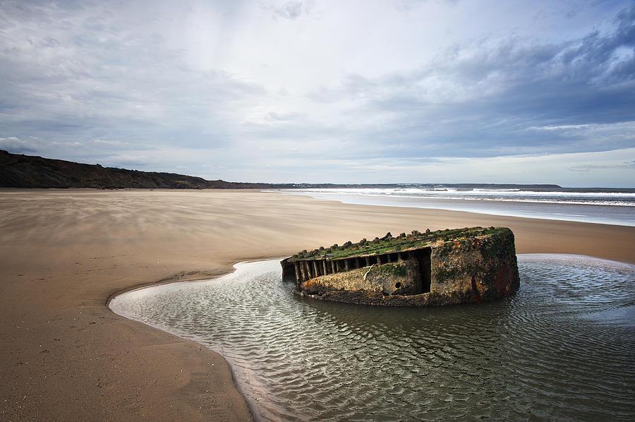 Bay Photograph - Reighton Sands Shore by Svetlana Sewell