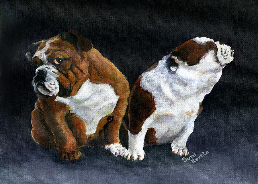 Bulldog Painting - Rejection by Suni Roveto