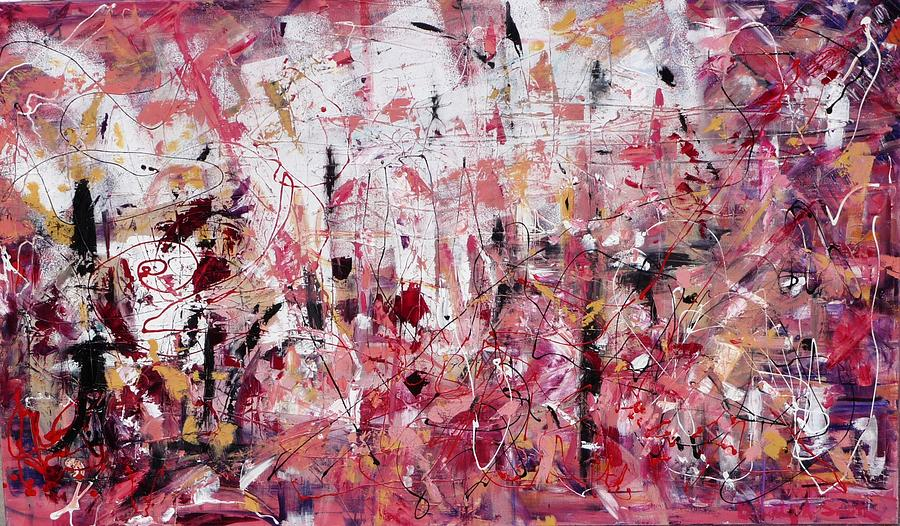 Abstract Painting - Relationships II by Beverly Smith