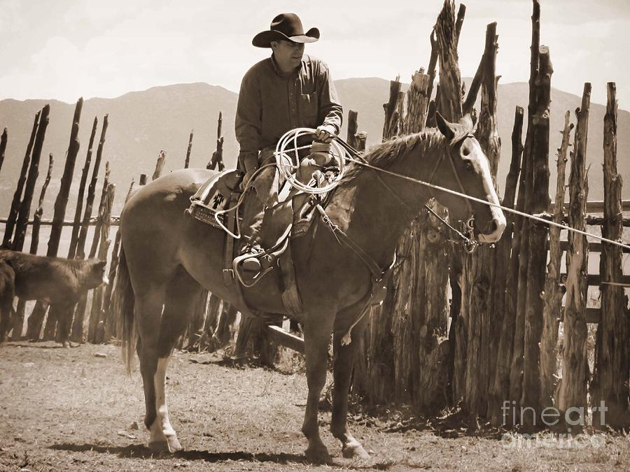 Cowboy Photograph - Relaxed In The Saddle by Megan Chambers