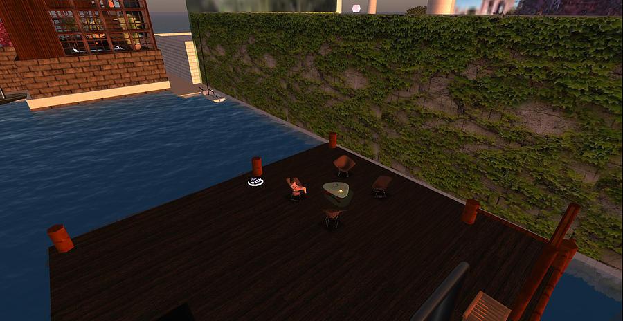 Digital Digital Art - Relaxing Boat Patio by Amy Bradley