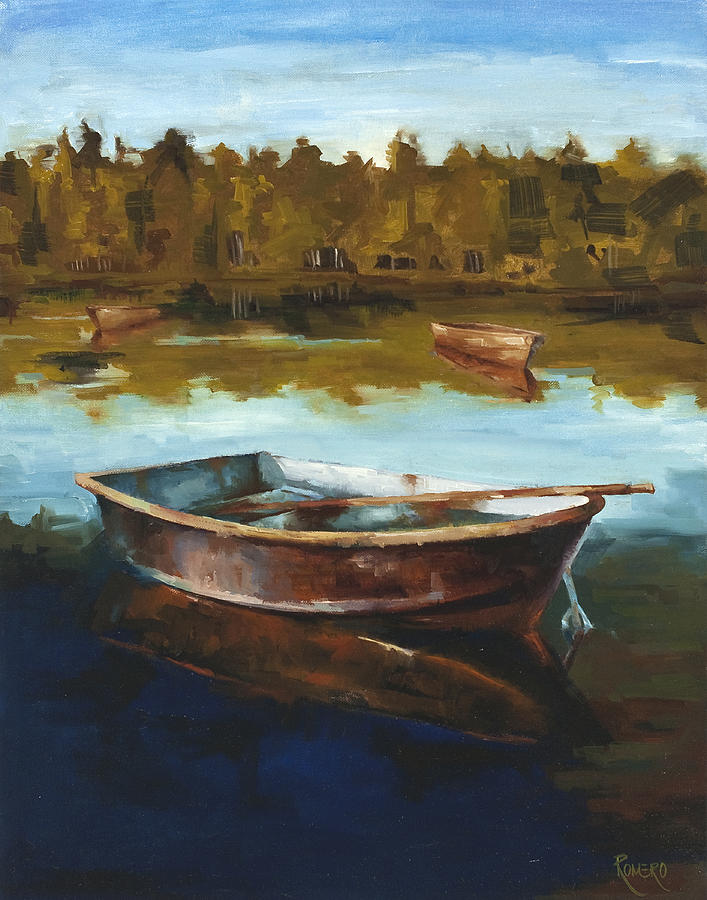 Botes Painting - Relaxing by Jose Romero