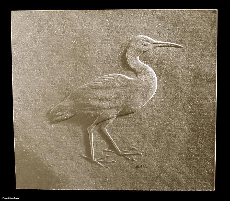 Birds Relief - Relief Bird On Paper by Suhas Tavkar