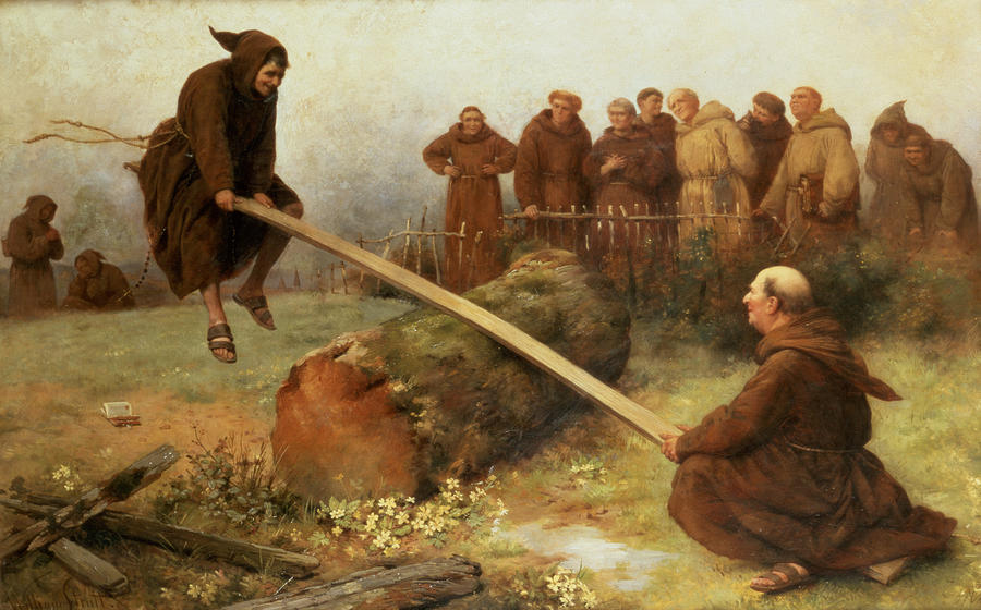 See Saw Painting - Religion Was Never Designed To Make Our Pleasure Less by William Strutt