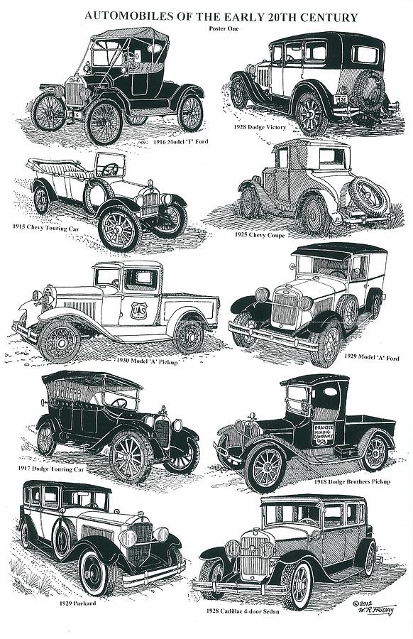 1916 Model T Ford Drawing - Remember The Days 1 by Bill Friday