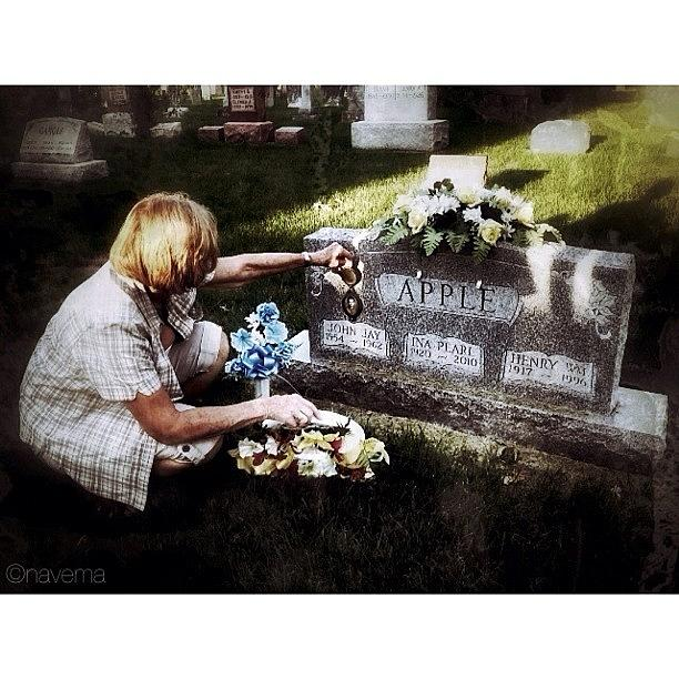 Cemetery Photograph - Remembering Her Little Brother by Natasha Marco