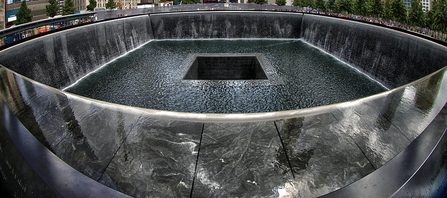 National September 11 Memorial Photograph - Remembering by Mitch Cat