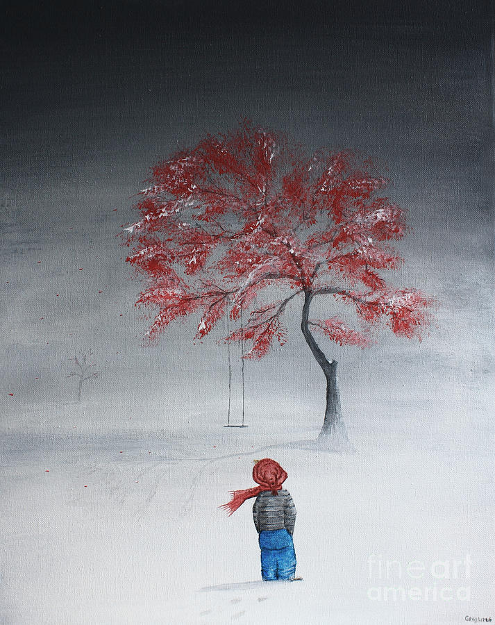 Boy Painting - Remembering Summer by Gray  Artus