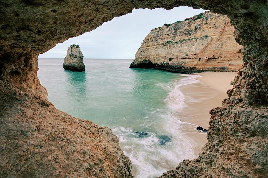 Remote Beach In Lagoa Portugal Photograph By 169 Allard Schager