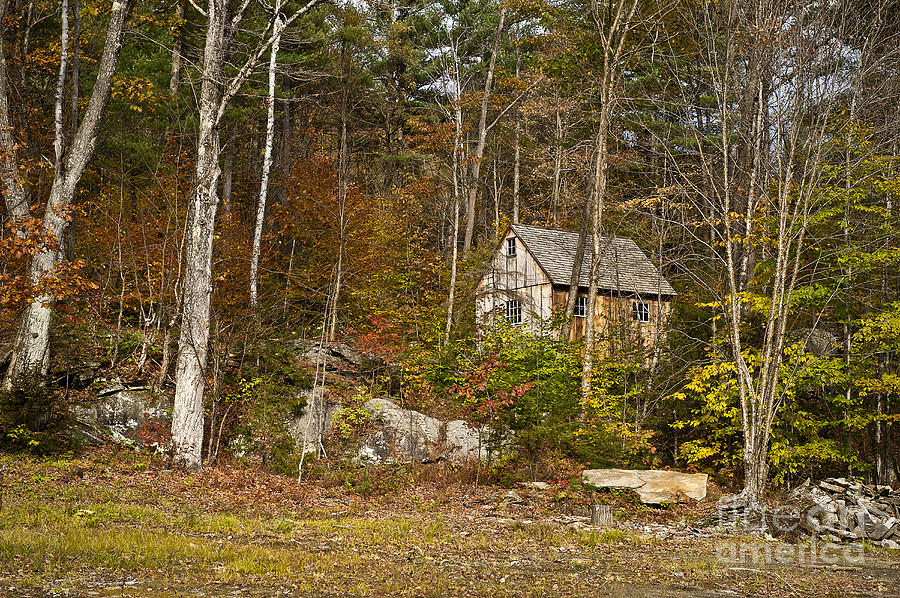 New England Photograph - Remote Vermont Cabin by John Greim