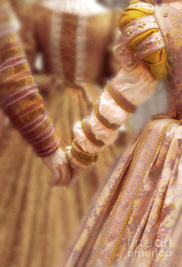Woman Photograph - Renaissance Couple Holding Hands by Jill Battaglia