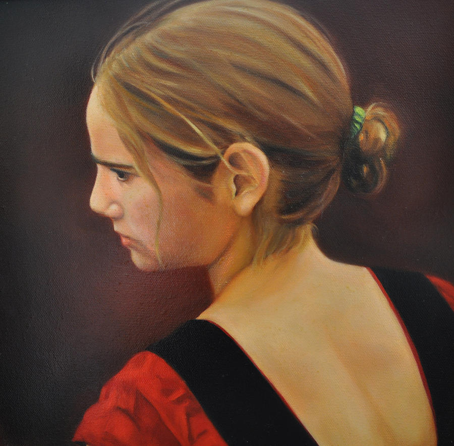 Renaissance Girl Painting By Denise Laurin
