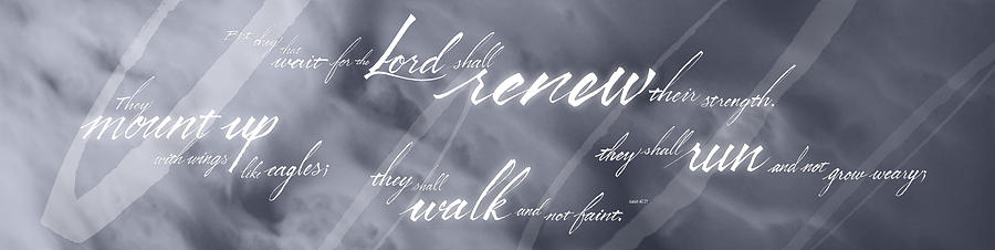 Bible Photograph - Renew Thy Strength by Elizabeth Rogers