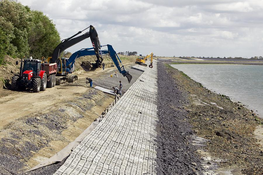 Equipment Photograph - Renewing Shore Defences, Netherlands by Colin Cuthbert