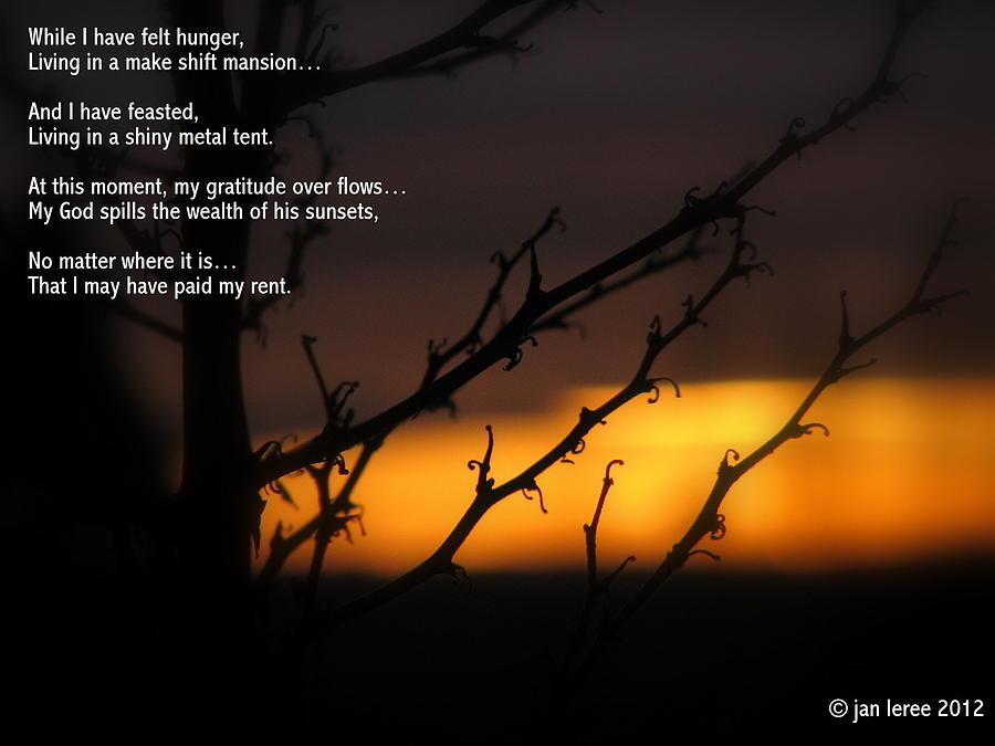 Sunset Photograph - Rent by Jan Whidden