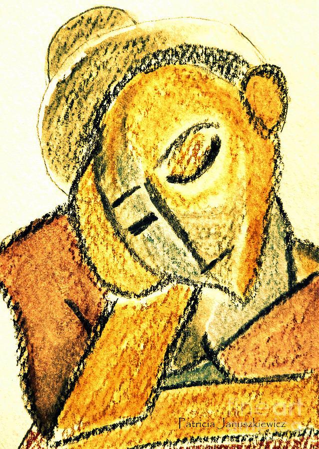 Picasso Drawing - Repose By Pj by Patricia Januszkiewicz