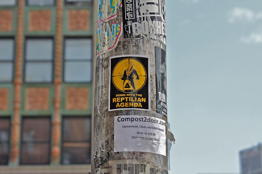 New York City Photograph - Reptilian Agenda by Jerry Patterson