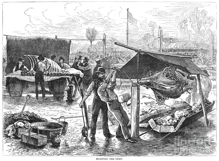 1876 Photograph - Republican Barbecue, 1876 by Granger