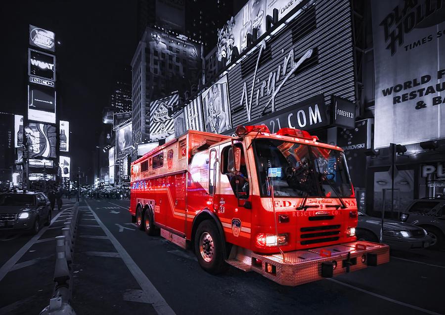 Fire Photograph - Rescue Me by Evelina Kremsdorf
