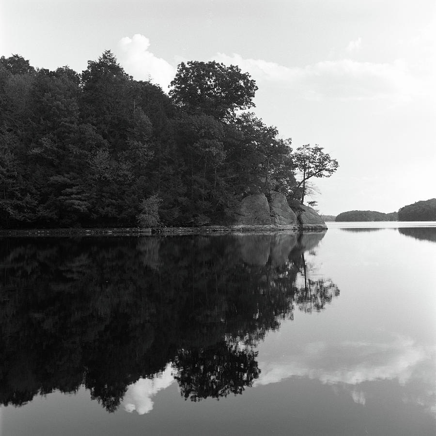 Square Photograph - Reservoir Reflection by Adam Garelick
