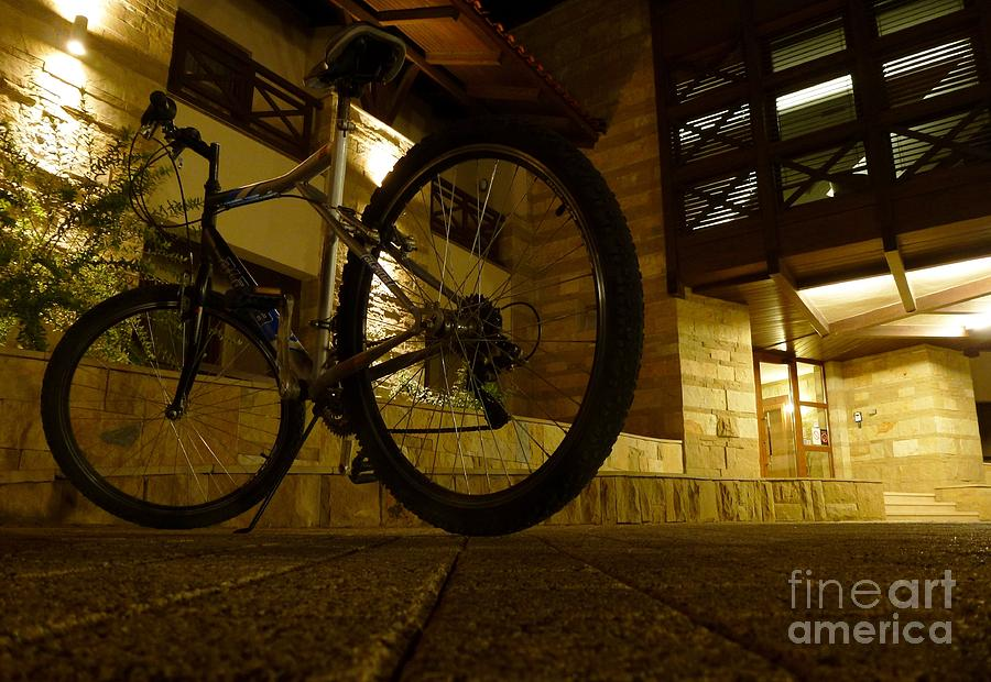Bicycle Photograph - Rest In The Night by Amalia Suruceanu