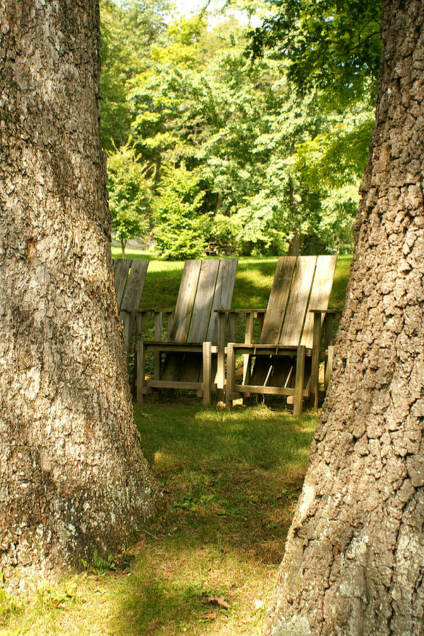 Chairs Photograph - Restful by Margaret Steinmeyer