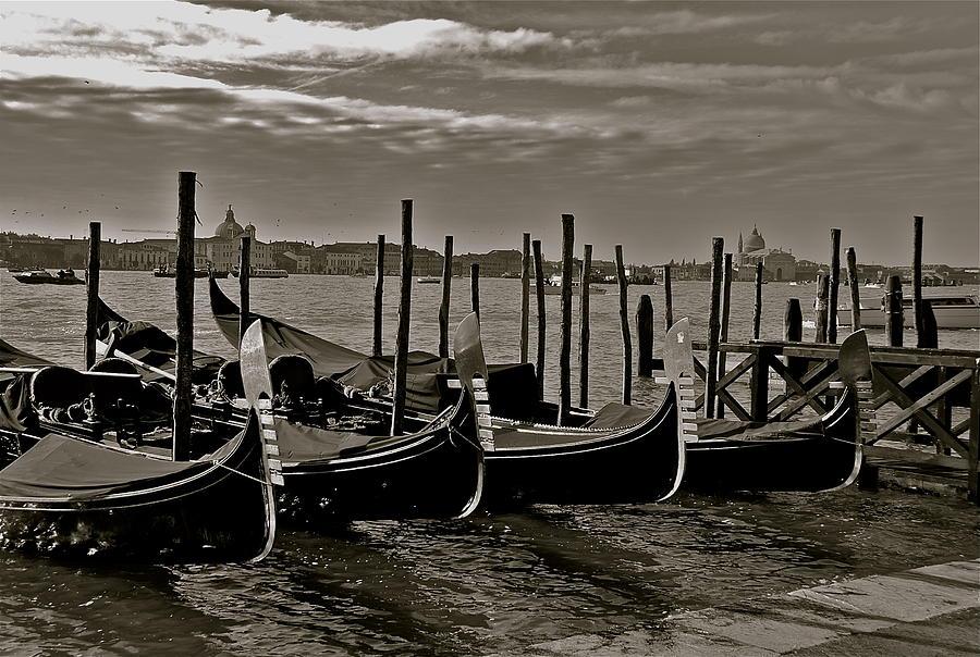 Venice Photograph - Resting Gondolas by Eric Tressler