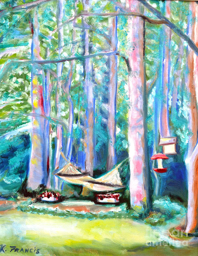 Hammock Painting - Resting Place by Karen Francis