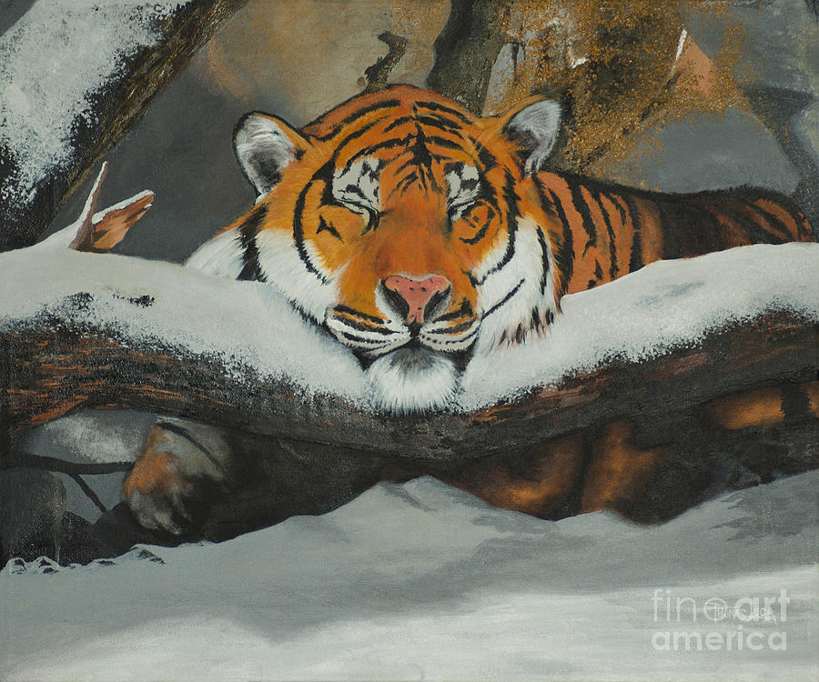 Tiger Painting - Resting Tiger by Thomas Luca