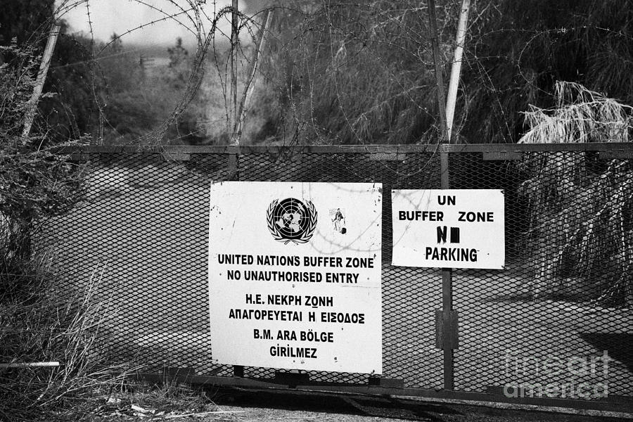 United Photograph - restricted area of the UN buffer zone in the green line dividing north and south cyprus in nicosia by Joe Fox