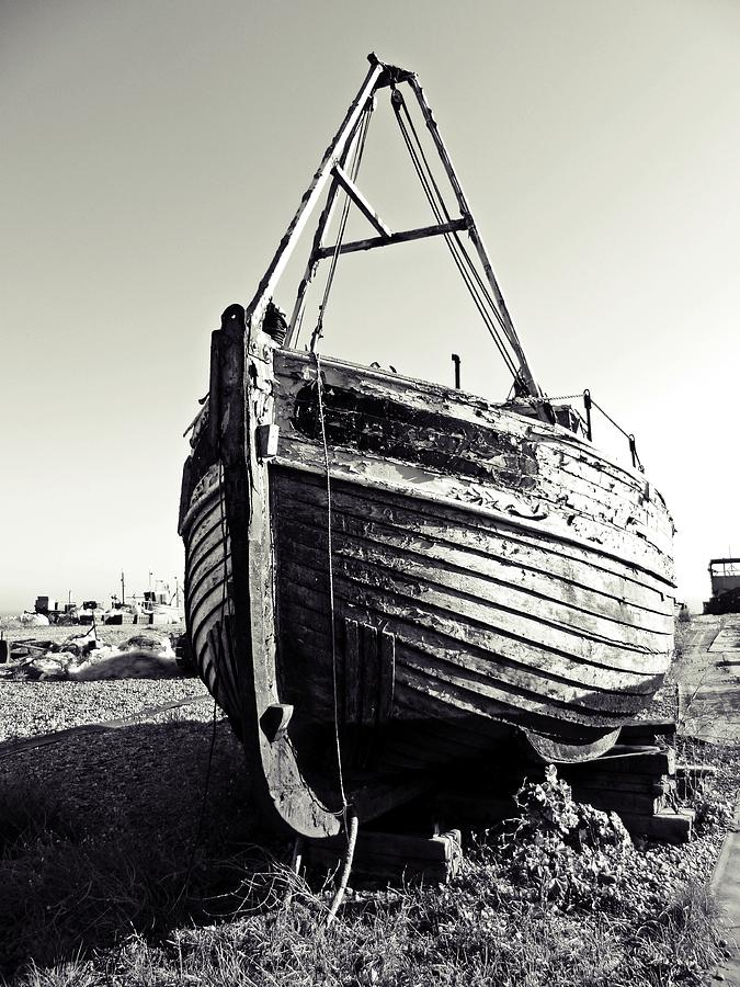 Fishing Boat Digital Art - Retired Fishing Boat by Sharon Lisa Clarke
