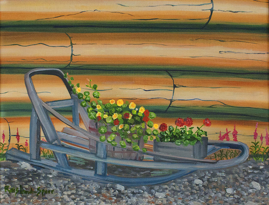Dog Sled Painting - Retired II by Amy Reisland-Speer