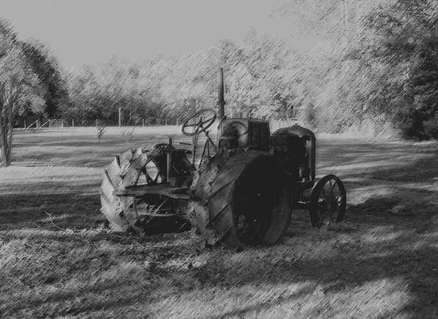 Farm Photograph - Retired by Karen Harrison