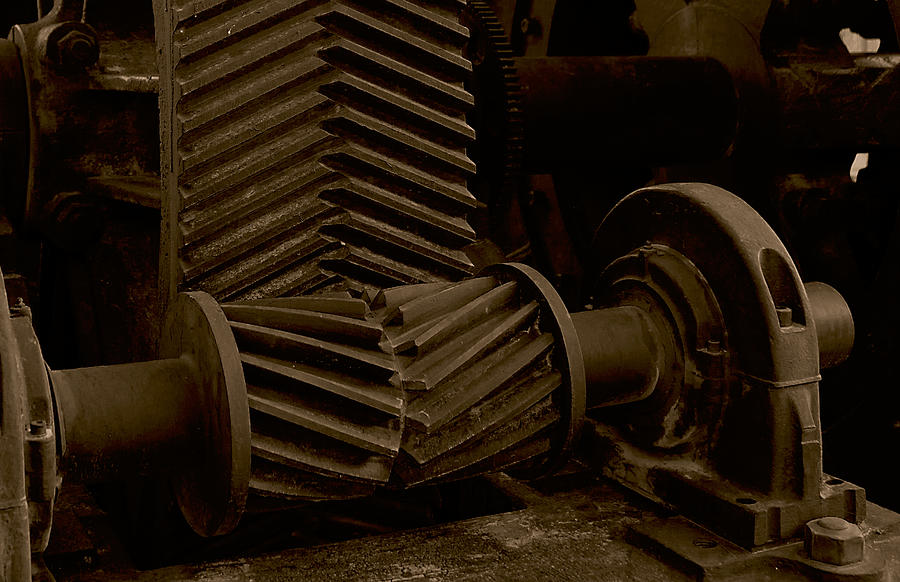 Photograph Photograph - Retired Mining Machine by Jephyr Art