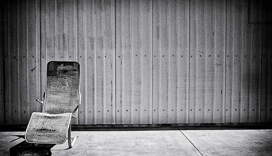 Lounge Chair Photograph - Retired by Ron Regalado
