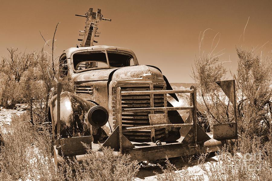 Utah Photograph - Retired Sepia by Bob and Nancy Kendrick
