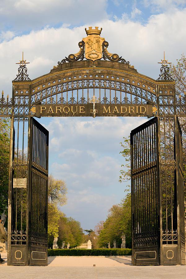 Park Photograph - Retiro Park Entrance In Madrid by Artur Bogacki